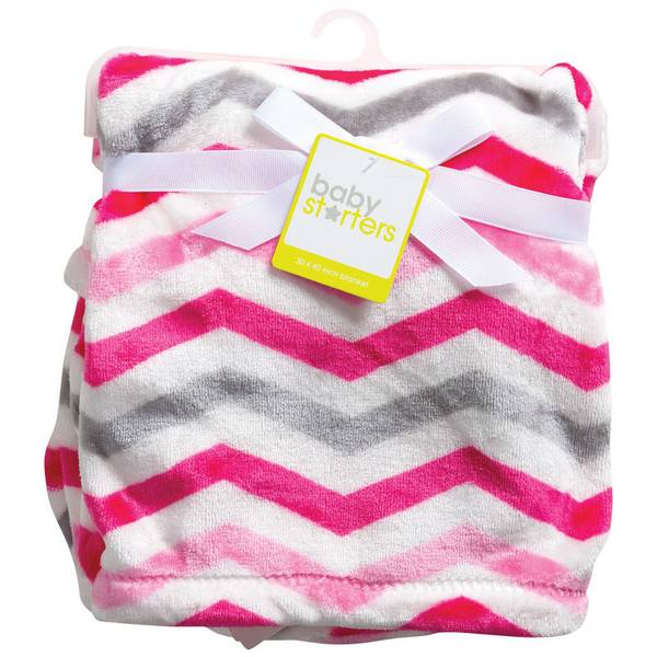 Pink & Gray Chevron Blanket