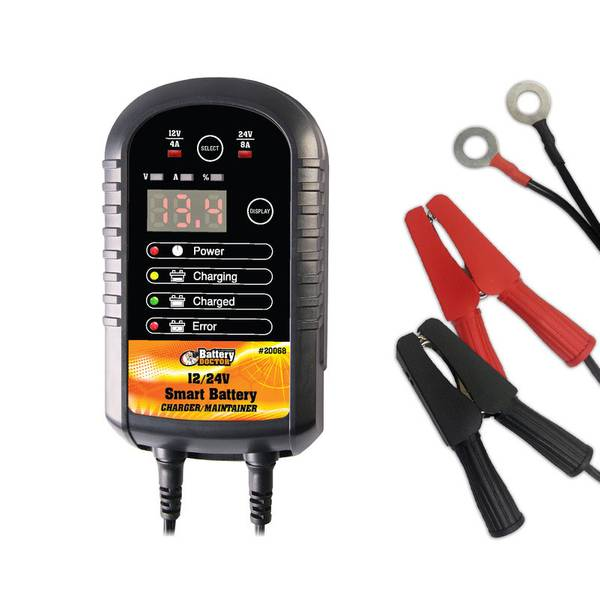 12/24V Battery Smart Charger/Maintainer