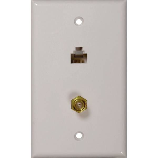 Rca cat connector wall plate