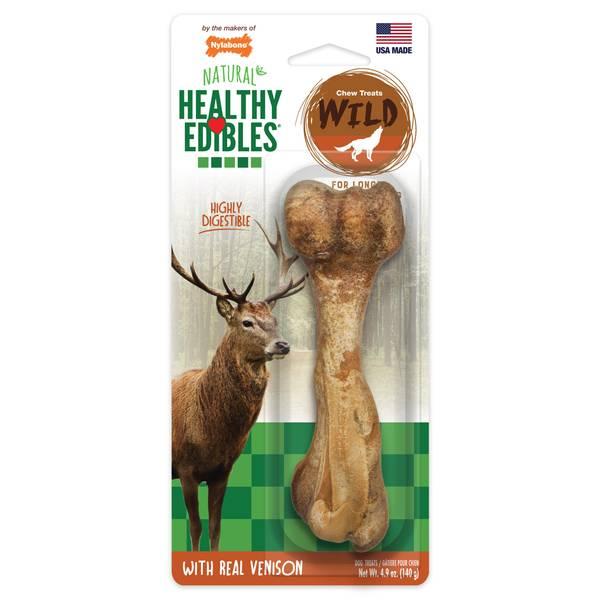 Healthy Edibles Large Wild Venison Dog Treat Bones