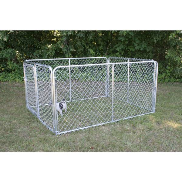 Stephens Pipe Steel Silver Series Dog Kennel Dks16084 Blain S Farm Fleet