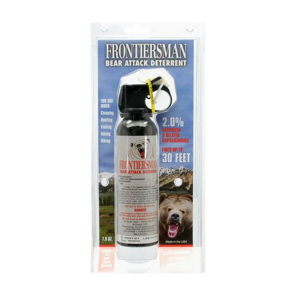 Bear Protection With Frontiersman Bear Spray: Sabre Frontiersman Bear Attack Deterrent Spray