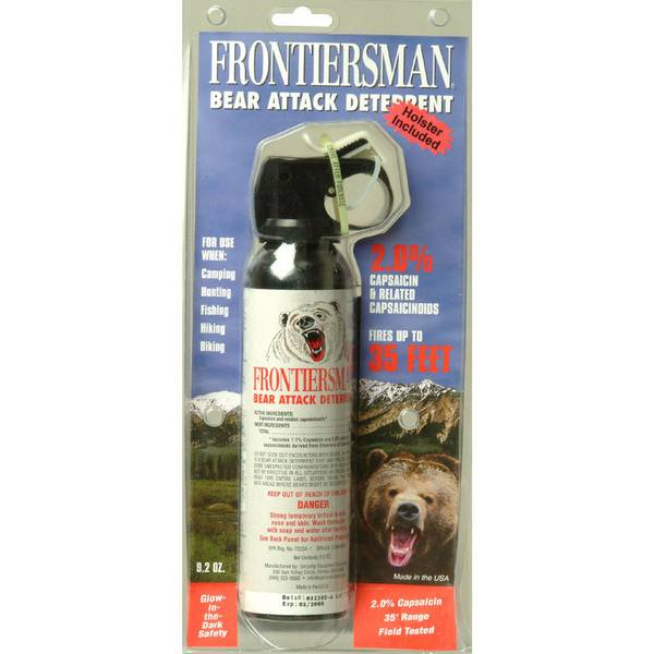 Bear Protection With Frontiersman Bear Spray: Sabre Frontiersman Bear Attack Deterrent Spray With Belt