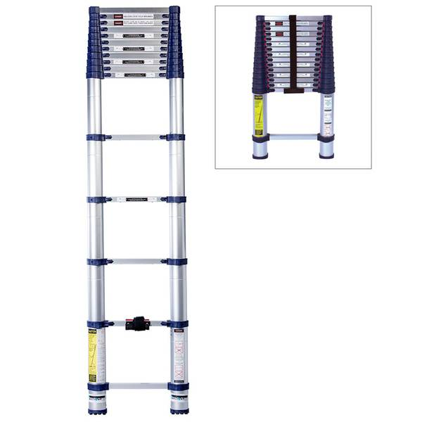 15 1/2 ft  Telescoping Ladder Type I 250 lb  Rating