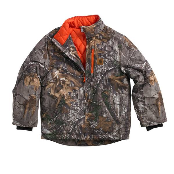 Boys' Realtree Xtra Quilted Flannel Lined Jacket
