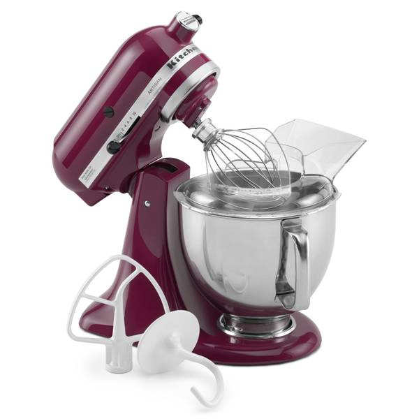 Kitchenaid boysenberry artisan stand mixer for Kitchenaid f series accessories