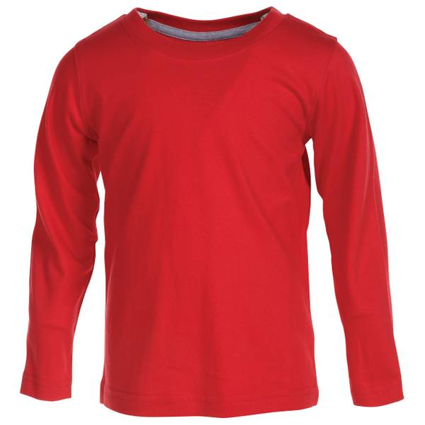 Boys' Long Sleeve Crew Neck Tee