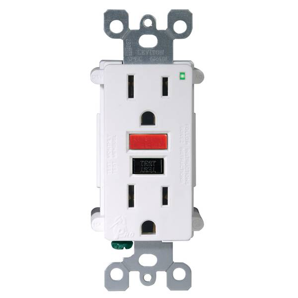15A-125V White Self Test GFCI Outlet
