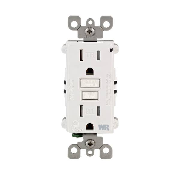 15A-125V White Weather/Tamper resist GFCI Outlet