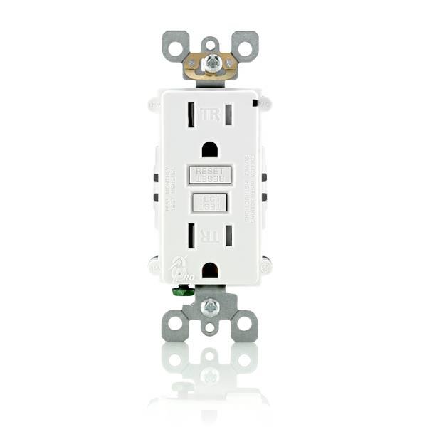 15A-125V White Tamper Resistant GFCI Outlet