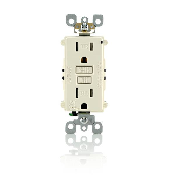 15A-125V Light Aluminum Tamper Resistant GFCI Outlet