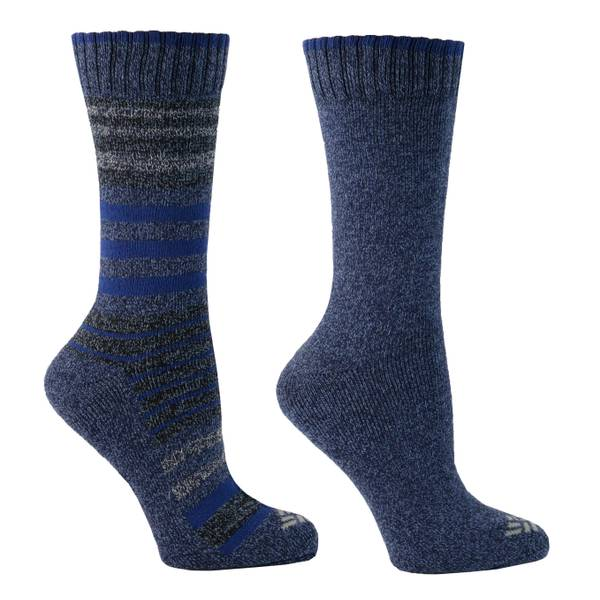 Women's Black Moisture Control Striped Socks