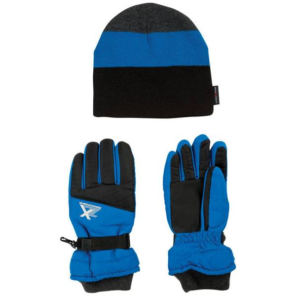 Boy's Sky Diver Thunder Ridge Hat & Gloves Set