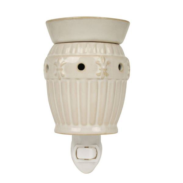 White Fleur De Lis Outlet Wax Warmer