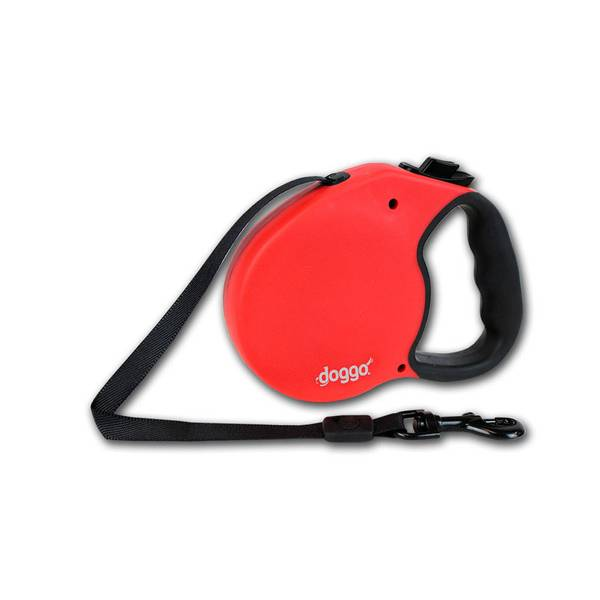 Doggo Red Everyday Retractable Dog Leash