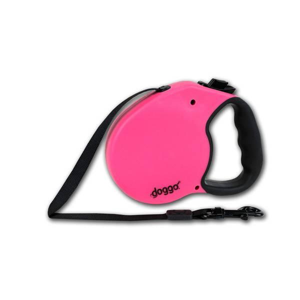 Doggo Pink Everyday Retractable Dog Leash