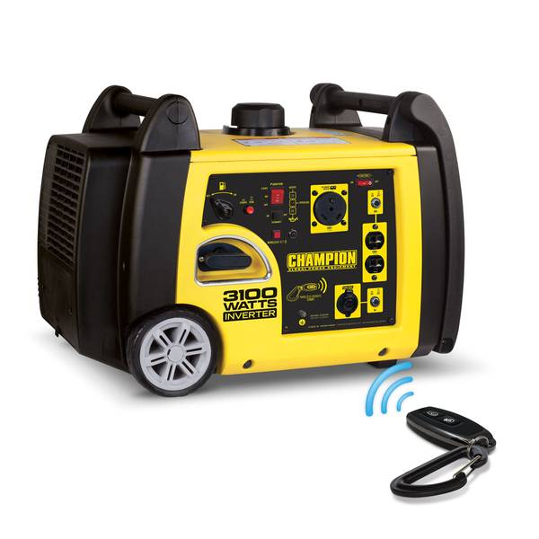 3100-Watt RV Ready Portable Inverter Generator with Wireless Remote Start