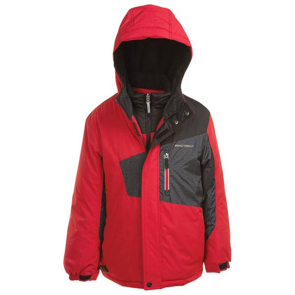 Boy's Red Freestyle 3-in-1 Systems Jacket