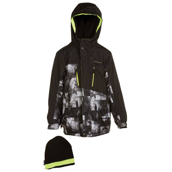 Boy's Black Snowboard Jacket