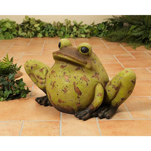 Antiqued Magnesium Frog Figurine