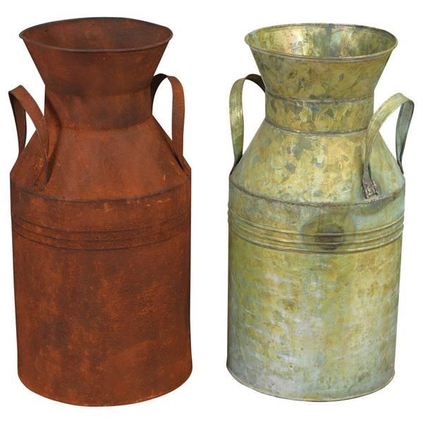Vintage Antique Metal Milk Can Assortment