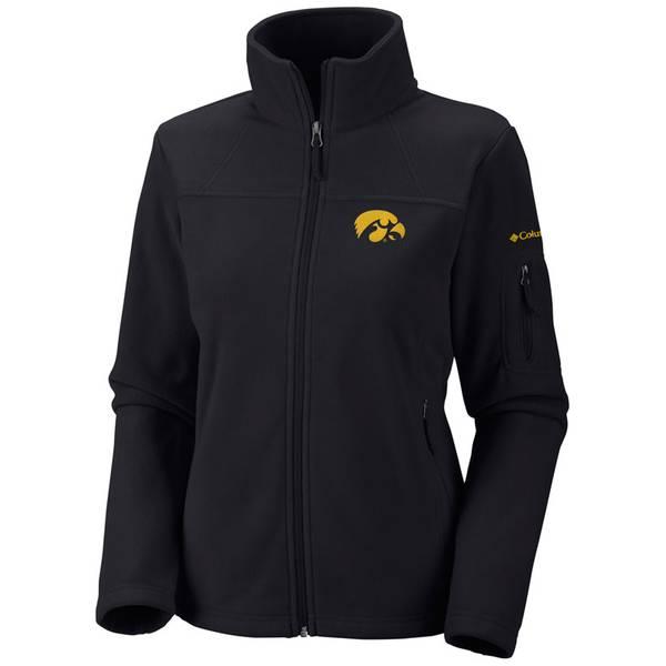 Women's Give and Go Iowa Hawkeyes Zip Up Fleece Jacket
