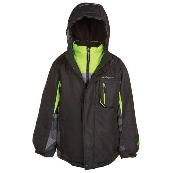 Boy's Lime & Black Icepeak 3-in-1 Systems Jacket