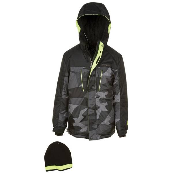 Boy's Black Taos Heavyweight Snowboard Jacket