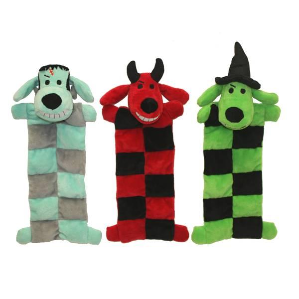 Halloween Loofa Squeaker Mat Dog Toy Assortment