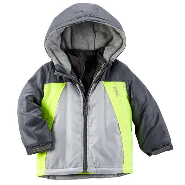 Boy's Gray 4-in-1 Hooded Jacket