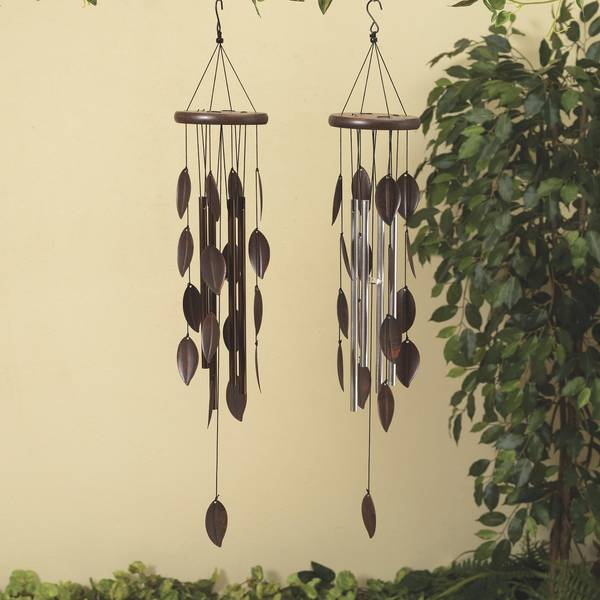Metal Leaf and Wood Wind Chime Assortment