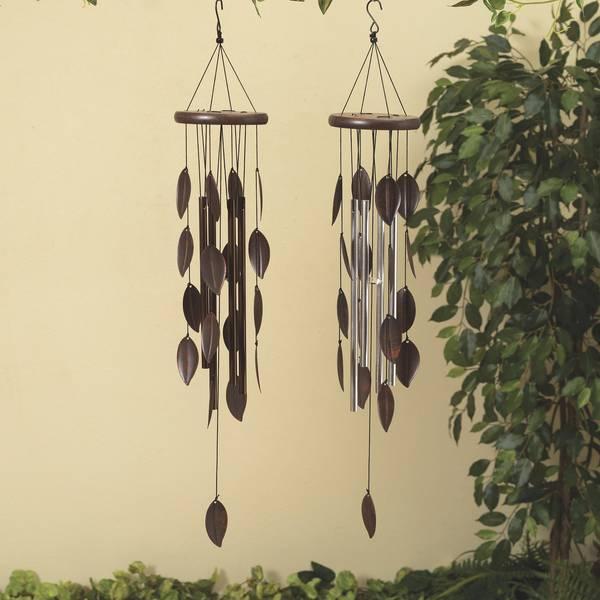 Metal Leaf and Wood Wind Chime Assortment