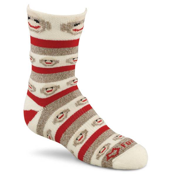 Kids Monkey Stripe Crew Socks