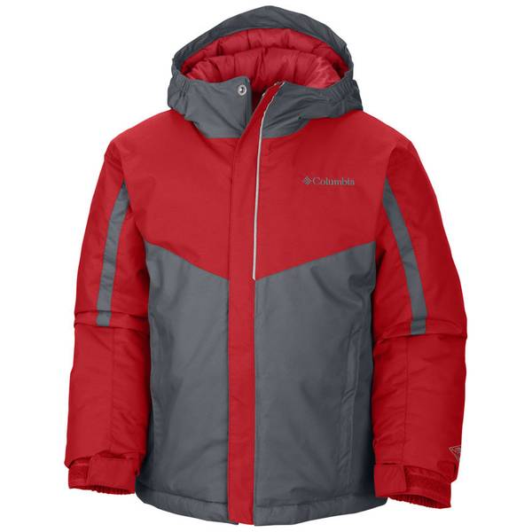 Boy's Bright Red & Graphite Stun Run Jacket