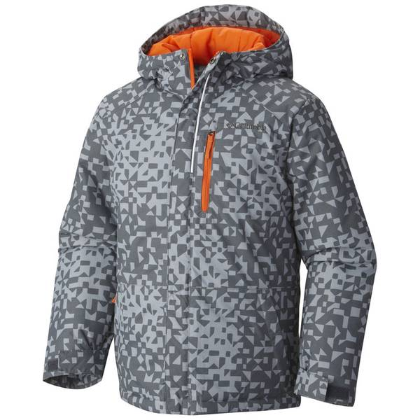 Boy's Tradewinds Gray Print Lightning Lift Jacket