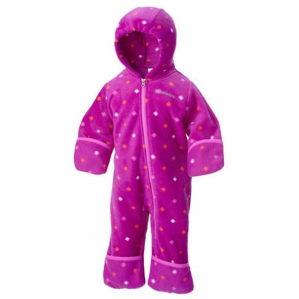 Infant Girl's Bright Plum Diamond Dot Snowtop II Bunting