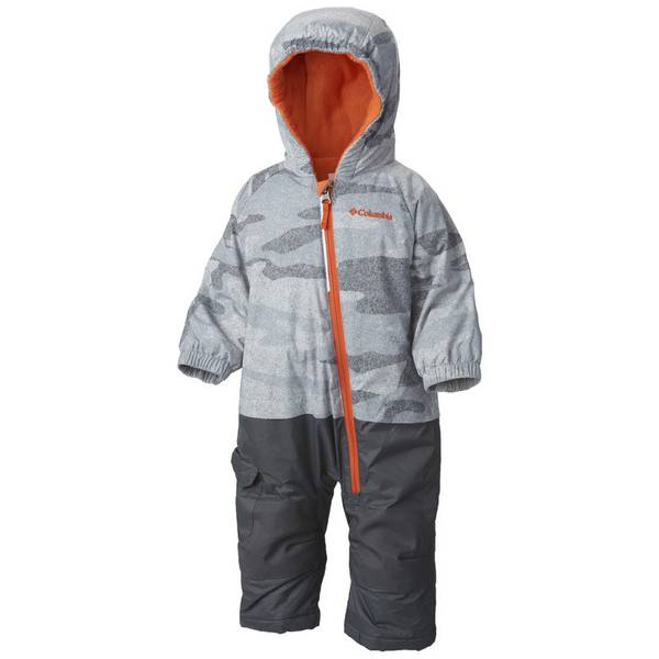 Infant Boy's Tradewinds Gray Camouflage & Tangy Orange Little Dude Snowsuit
