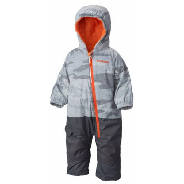 Baby Boy's Tradewinds Gray Camouflage & Tangy Orange Little Dude Snowsuit