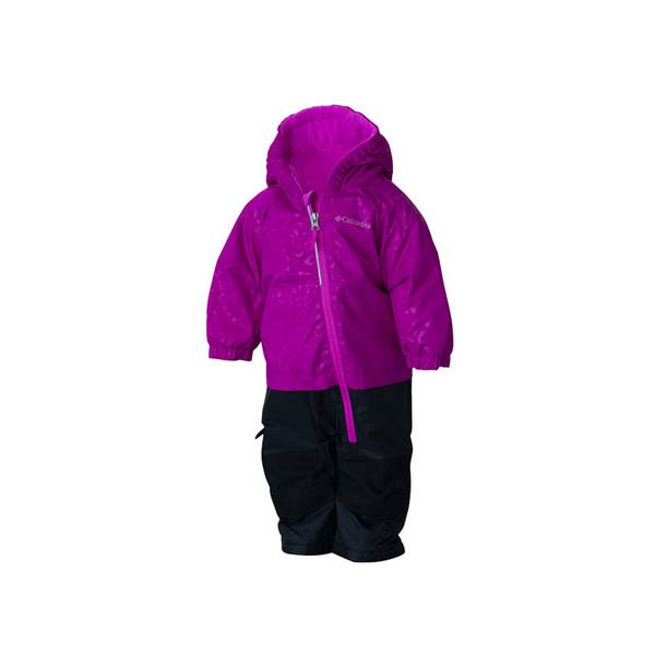 Baby Girl's Bright Plum Cheetah & Foxglove Little Dude Snowsuit
