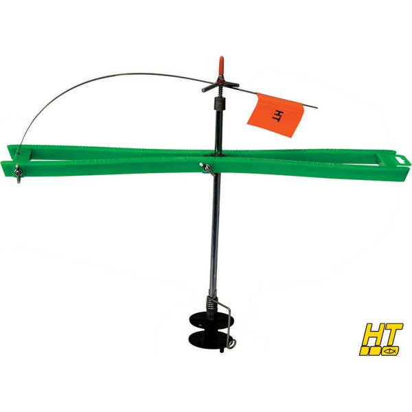 Ht enterprises arctic ice tip up with flag steel for Ht ice fishing