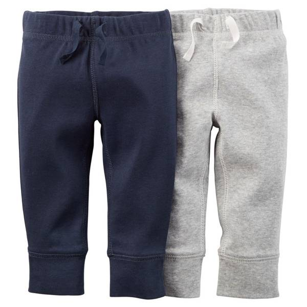 Infant Boy's Multi-Colored Pants - 2 Pack