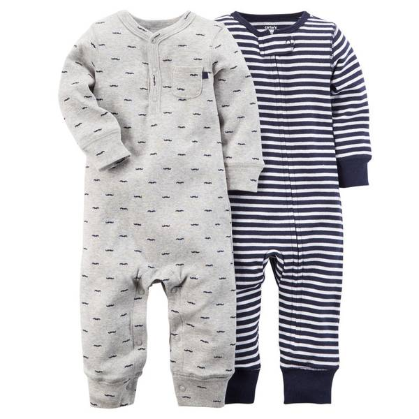 Baby Boy's Multi-Colored Jumpsuits - 2 Pack