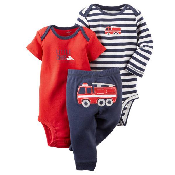 Baby Boy's Multi-Colored Bodysuit & Pant Set