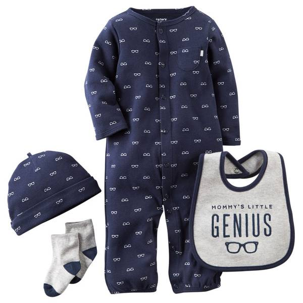 Baby Boy's Navy & Gray Take-Me-Home Glasses Set