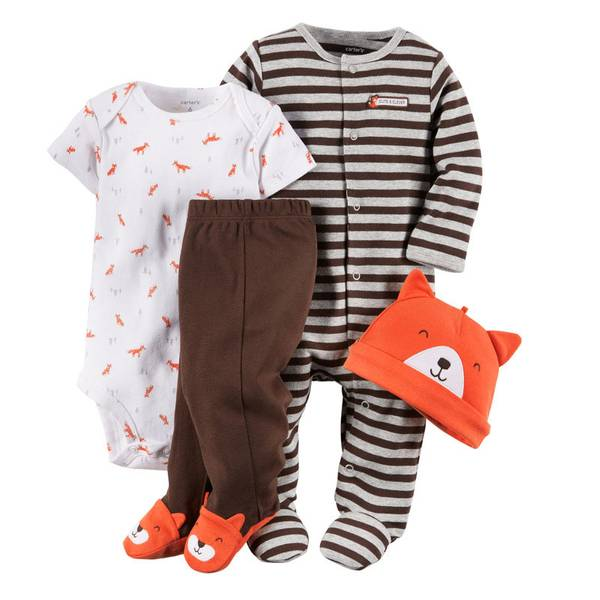 Baby Boy's Multi Colored Take-Me-Home Fox Set
