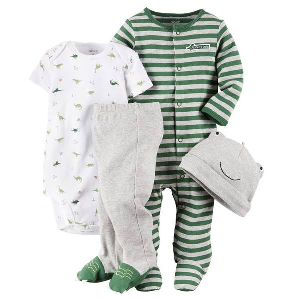 Baby Boy's Multi Colored Take-Me-Home Dino Set