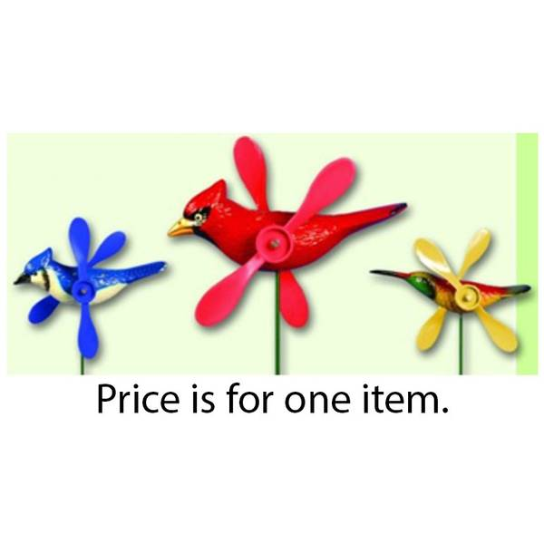 Bird Whirligig Stake Assortment
