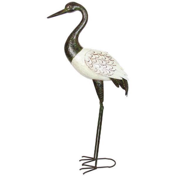 "46"" Ivory Metal Crane"