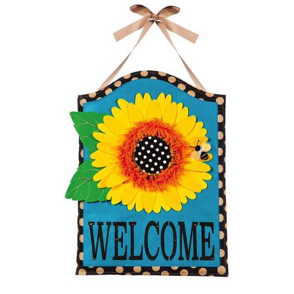 Sunflower Welcome Door Hanger