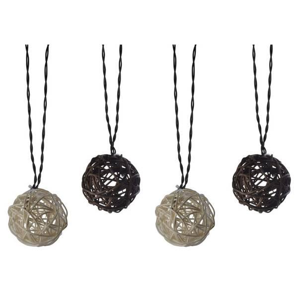 Solar Rattan String Ball Lights